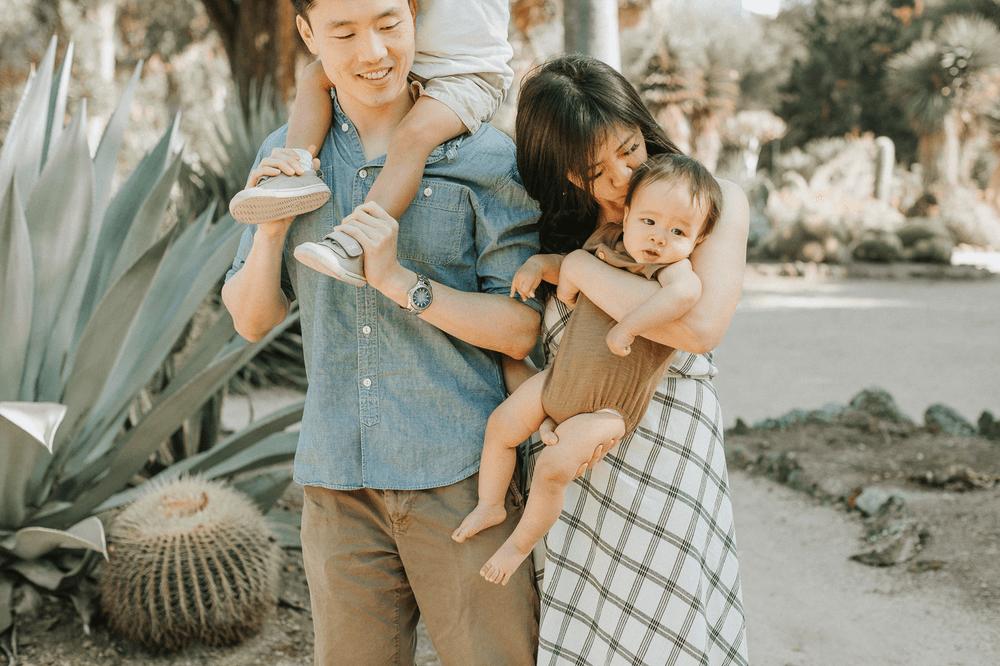 Stanford Cactus Garden Family Photographer