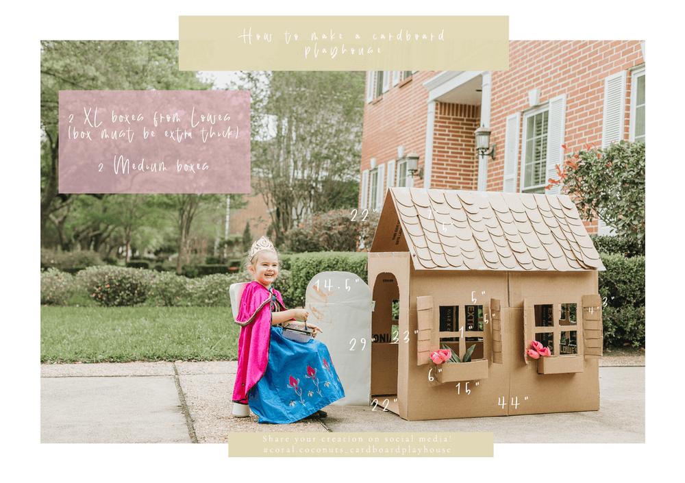 How to make a cardboard playhouse