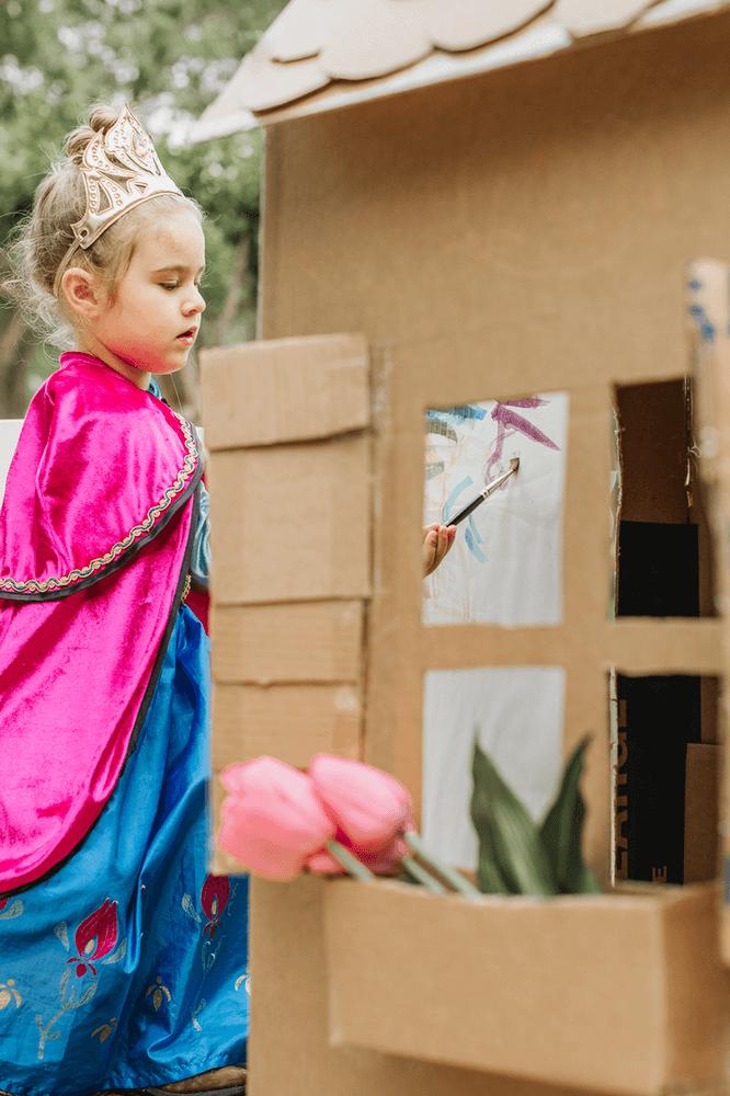 Kids Art Project with Cardboard Box