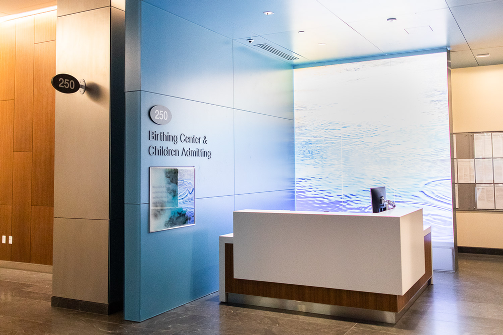 Birthing Center Admitting Desk at CPMC Van Ness Campus