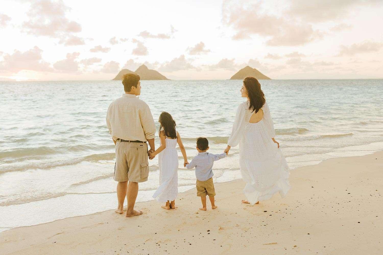lanikai beach oahu family photography