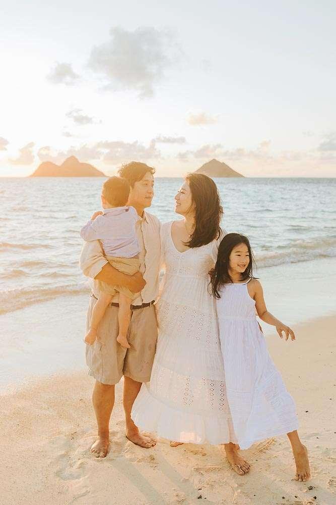 lanikai beach oahu family photos